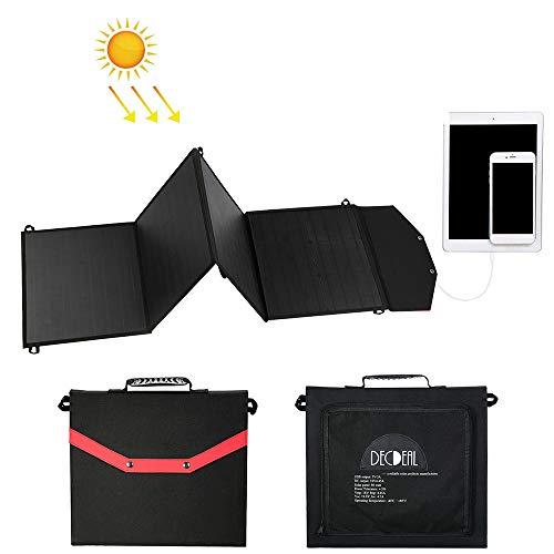 Festnight Draagbare opvouwbare inklapbare 80 W oplader op zonne-energie met 2 USB-poorten