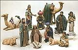 Duncan Christmas Ceramic Nativity 15 Piece Set 7' to 9' Ceramic Bisque, Ready to Paint