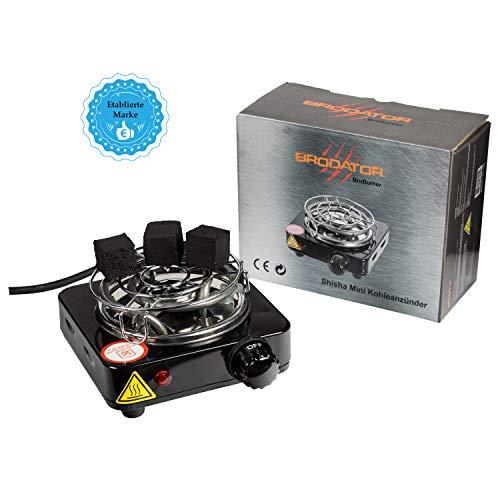 Brodator® Shisha Kohleanzünder Premium - für Shisha Kohle Spitzenqualität - in DE eingetragen - Stromsparende 500 W - Schwarz - Markenprodukt - elektrisch