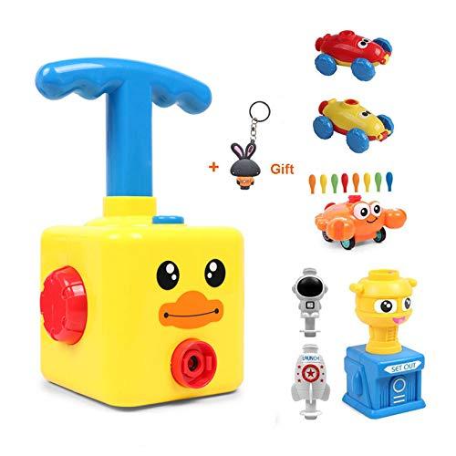 HOWADE Ballonbetriebenes Startauto, aufblasbare Ballonpumpe, Handschieber, Mini-Kunststoff, Luft-Power-Ballonrennfahrzeug, Auto-Spielzeug für Kinder, Geschenk