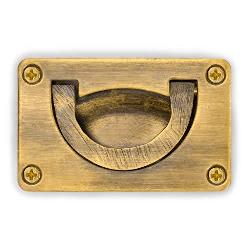 CBH Creativity Brass Box Drawer Handle Hardware Pulls 3-1/6' - Set of 2