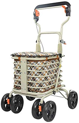 Buy Zjnhl JIAN Trolley Creative Folding Portable Four-Wheeled Seated Scooter Easy to Operate Flexibl...