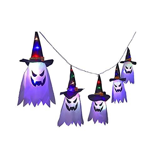 COFEMY Decoración de Halloween con luces LED para colgar, funciona con pilas, para interiores y exteriores, árboles, patios, vacaciones