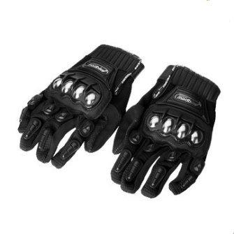 Wooya Legierung Aus Stahl Madbike Motorradhandschuhe Racing Motorrad Schützende Handschuhe-Schwarz-XL