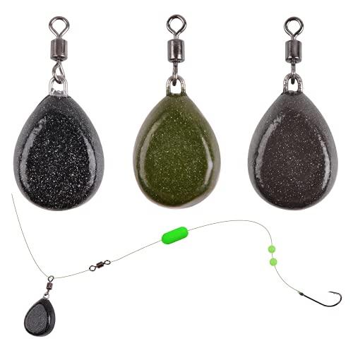 OROOTL Groß Angelblei Karpfen Gewichte - 3 STK Mischfarbe Karpfenangeln Flache Angelgewichte