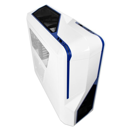 NZXT Phantom 410 Mid Tower Computer Case , White/Blue (CA-PH410-W2)