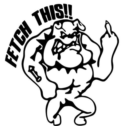 MUXIAND Waterdichte Auto Sticker Decal DIY Styling Bumper Truck Brandstof Tank Cap Cover Brandstof Gage PVC Window Cadeau Cartoon hond kar 15x16cm 5 Stks