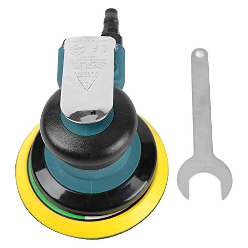 Air Polisher, with 15 Polishing Pads Low Noise High Speed Random Orbit Sander Sander Mini for Automobiles Grinding and Polishing
