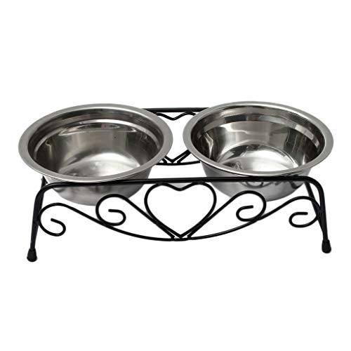 Hundenäpfe Edelstahl Doppelschüsseln Pet Bowling Bewässerung für Hunde Katzen Haustiere Metall Abtropfbrett Hunde Katzen Haustiere Futter und Wassernäpfe Näpfe & Reisenäpfe