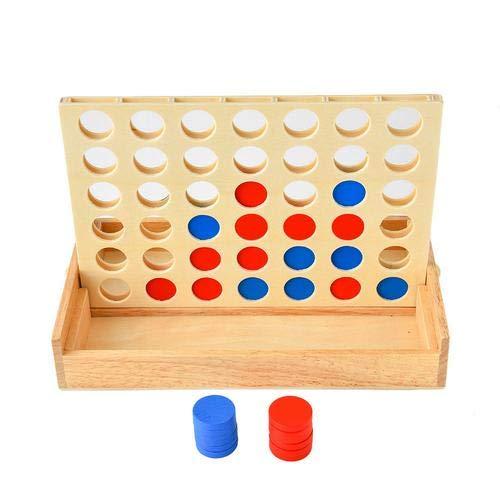 4 gewinnt Strategiespiel, für 2 Spieler, 4 gewinnt Rasterwand, 4 in Einer Reihe, für Kinder ab 6 Jahren (Yellow)