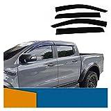 JIUTAI Deflectores de Viento Deflector del Viento Lateral para Ford Ranger Raptor 2012 2013 2014...
