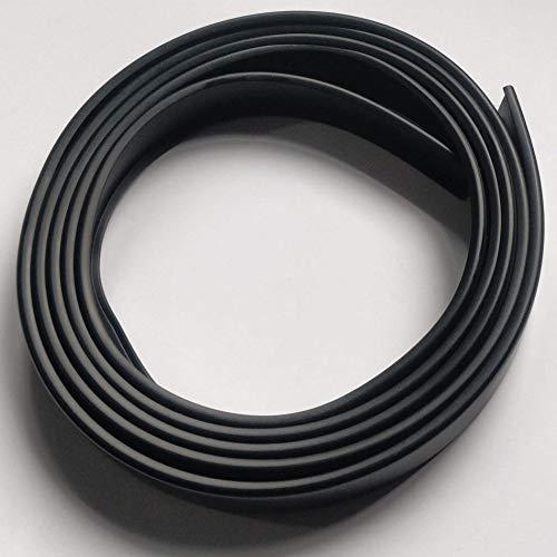 2N16 Cubrecanto de plástico flexible en U (umolding) (16 mm., NEGRO). Tira de 2 metros.