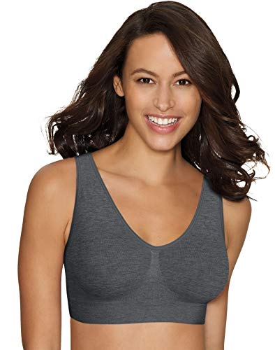 Hanes womens Cozy Seamless Wire-free Bra, Grey Heather, XX-Large US