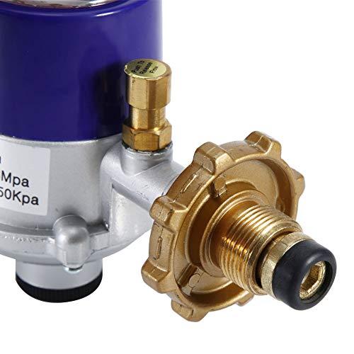 Rehomy Explosionsgeschütztes Druckminderer für Flüssiggas im Haushalt mit Manometer