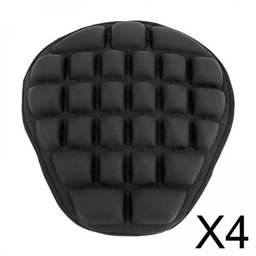 B Blesiya 4 x Airbags Air Motocicleta cojines grandes amortiguadores para sillines negros
