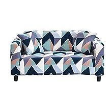 Hotniu Funda Sofa Elasticas 3 Plazas Fundas de Sofa Ajustables Fundas Decorativa para Sofá Estampadas Impresa Cubre Sofa con 1 Funda de Cojín, Patrón Dcg