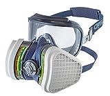 GVS Filter Technology SPR535 Máscara Elipse Integra con visor + filtros ABEK1P3 incluidos para protección contra partículas y gases combinados - Talla M/L