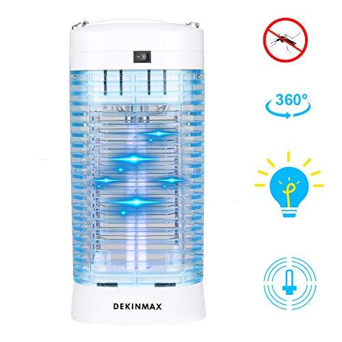 DEKINMAX Lampe Anti-Moustique Électronique 12W Piège à Moustique Tueur d'insectes Contre Moustiques Mouches Mites pour Chambre Bureau Restaurant Salon Cuisine (02)