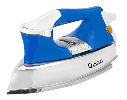 GIXOO HOME APPLIANCES||Heavy Weight Plancha 750-Watt Dry Iron||Blue