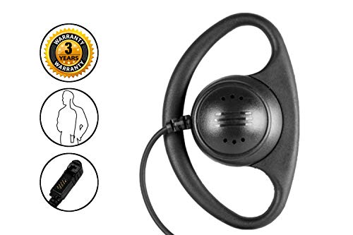 For Sale! 1-Wire D-Ring Earpiece and PTT Mic for Motorola MotoTRBO XPR3300 and XPR3500 Two Way Radio...
