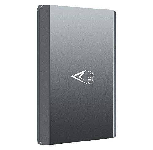AIOLO 2.5' 500Go Disque Dur Externe Portable Alliage d'aluminium Type C USB3.1 SATA, Stockage HDD...