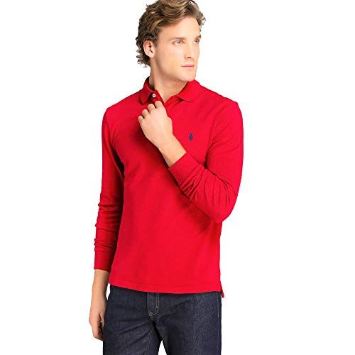 Ralph Lauren Polo a Manica Lunga Small Pony (XL, New College Green)