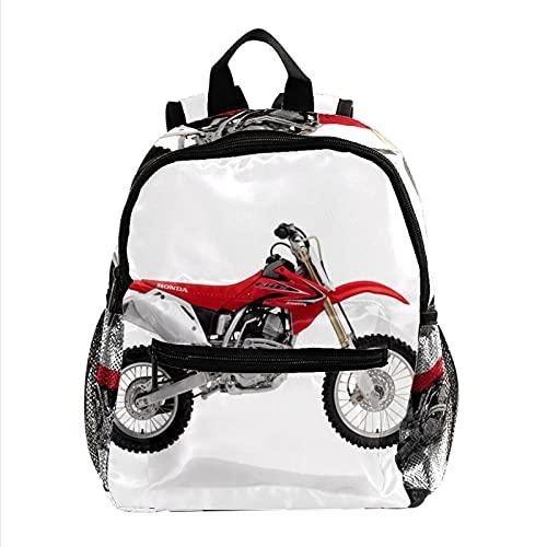 Zaino per Bambini Moto da cross Scuola Borsa Zainetto Asilo per Ragazzi e Ragazze,Regali per la stagione scolastica e il compleanno 25.4x10x30 CM
