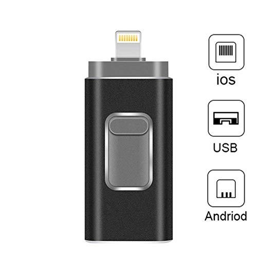 B&H-ERX Unidades Flash USB Compatible iPhone/iOS 3-en-1 Lightning OTG Salto de la Unidad, USB 3,0 Unidad de Memoria USB Externo Almacenamiento de memorias, Flash Memory Stick