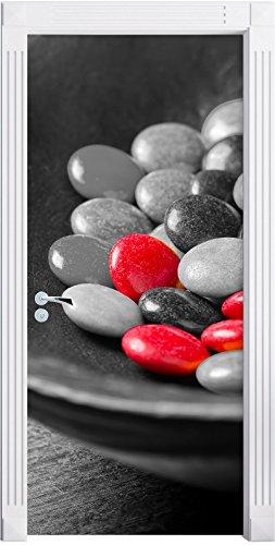 Stil.Zeit Möbel Chocolat Smarties Bonbons au Chocolat Noir Mural/Blanc, Format: 200x90cm, Cadre de Porte, Porte Autocollants, décoration de Porte, Porte Autocollants