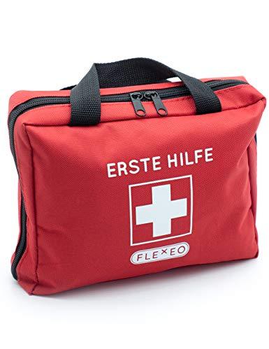 *Erste-Hilfe-Tasche mit Sofort-Kältekompressen, Rettungsdecke und Pflastersortiment (103-teilig, rot)*