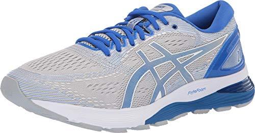 ASICS Men's Gel-Nimbus 21 Lite-Show Running Shoes, 10.5M, MID Grey/Illusion Blue
