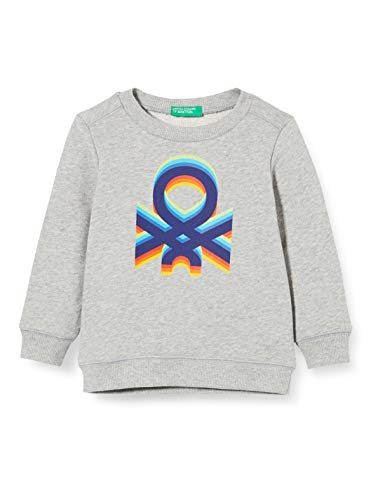United Colors of Benetton Baby-Jungen Felpa Kapuzenpullover, Grau (Grigio 501), 80/86 (Herstellergröße: 1y)