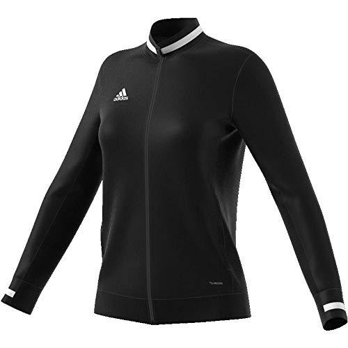 Adidas T19 TRK JKT W Chaqueta de Deporte, Mujer, Black/White, L