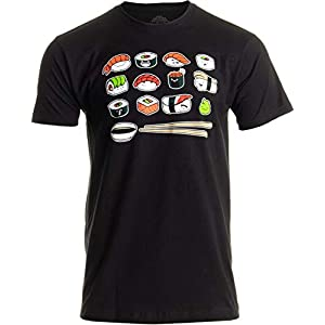 Happy Sushi | Funny, Cute Fun Japanese Food Go Rice Art for Men Women T-Shirt