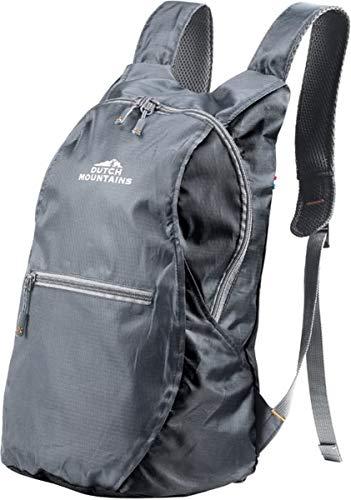Dutch Mountains Backpack Tilleul Randonnée Sacs Sacs à Dos Poches Dos de Trekking 14L Foldabl (Noir)