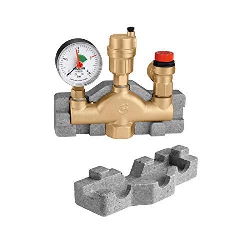 Kesselsicherheitsgruppe aus Messing für geschlossene Heizungsanlagen nach DIN 4751 für Leistung bis 50 kW