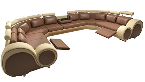 JVmoebel Sofa, Leder, Schwarz/Rot, 200x90x90 cm