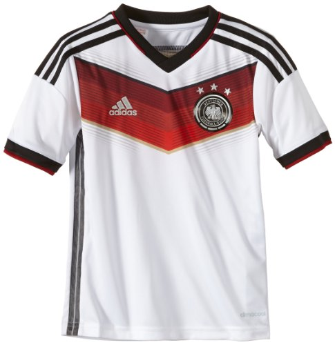 adidas Kinder Trainingsshirt DFB Trikot Home WM, WHT/Black/VICRED/MTSI, 152