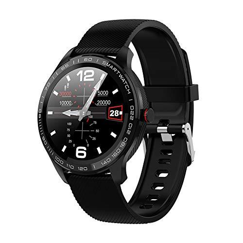 Reloj inteligente redondo didatecar, tecnología impermeable, monitor de frecuencia cardíaca, modo multideporte, podómetro, apto para smartphones Android e ios.