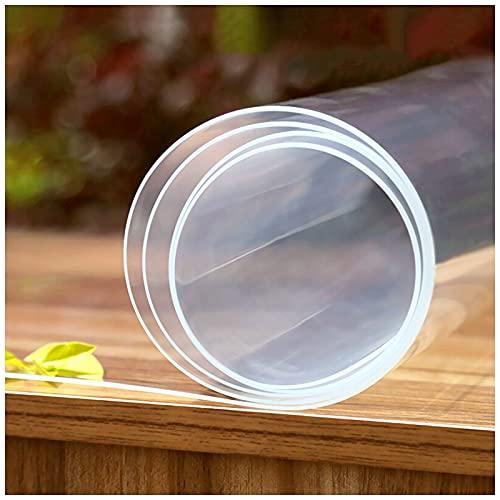 AJSJ 1,5 mm przezroczysta mata stołowa, pokrowiec na stół z PCW, antypoślizgowe podkładki ochronne prostokątny winylowy pokrowiec na stół biurowy/stół jadalny/stolik nocny/podkładki na biurko do pisania (rozmiar: 60 x 200 cm/24 x 79 cali)