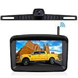 Wireless Backup Camera with 5' HD Monitor Stable Digital Signal for Trucks/Trailer/RVs/Pickup/Camper/RVs/Van with Monitor Xroose Backup Camera F3 License Plate IP69K Waterproof 152°Night Vision
