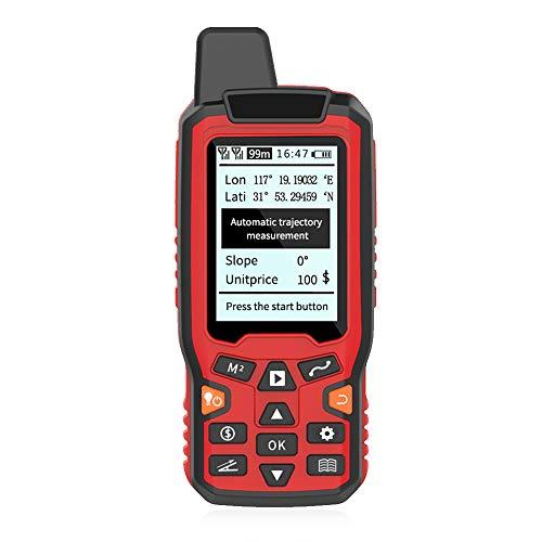 Romacci Medidor de área terrestre GPS portátil de navegação USB Medidor de cálculo de área de trilha LCD retroiluminado Medidor de trajetória automática com veículo inclinado e modo de correção manual Medir área de distância