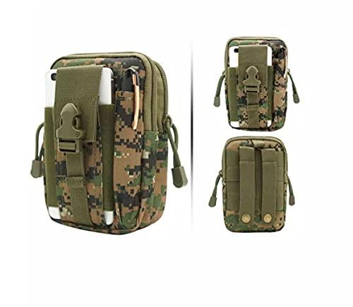 Bolsa Cintura Táctica, Bolso Cinturón Táctica Militar Compacta,para Herramientas Pequeñas de Multiusos Teléfono Móvil al Aire Libre Deportes Senderismo y Camping.