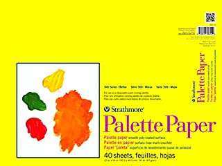 """Strathmore 300 Series Paper STR-365-12 40 Sheet Disposable Palette, 12 by 16"""", 12""""x16"""", White"""