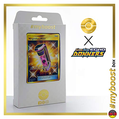Nirgendwo-Mixer (Lost Blender) 233/214 Shiny Traner - #myboost X Sonne & Mond 8 Echo des Donners - Doos met 10 Duitse Pokémon-kaarten