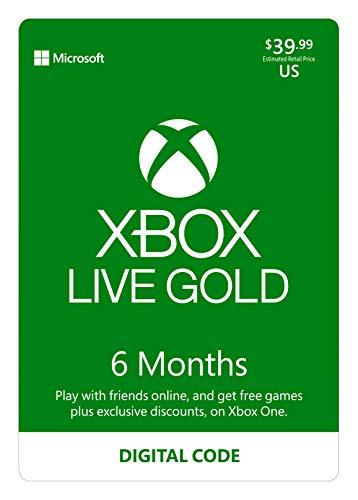 Xbox Live Gold: 6 Month Membership [Digital Code]