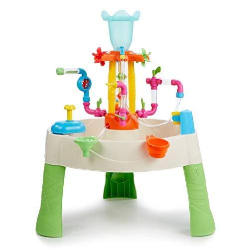 Little Tikes Fountain Factory tavolo d'acqua, Giocattolo per esterni, sicuro, portatile, Giocattolo sensoriale ideale per il giardino. Sviluppa la creatività. Età: 24+ Mesi