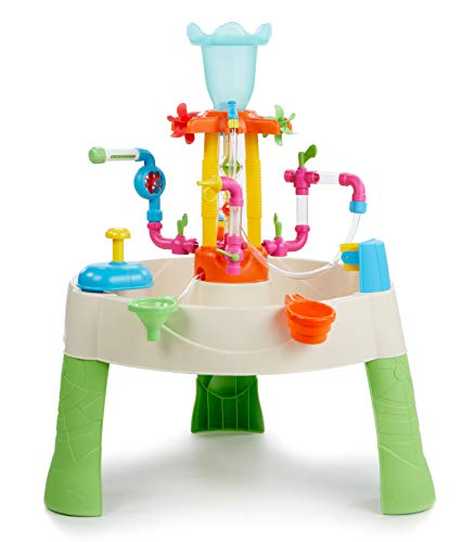 Little Tikes Fountain Factory Water Table - Outdoor Garden Toy, Safe & Portable Kids Table - Sensory Toy for Garden Games, Encourages Creative Play, For Ages 24 Months+