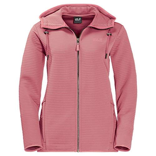 Jack Wolfskin Damen Modesto Hooded JKT Women Warme Fleecejacke, Rose Quartz, XL