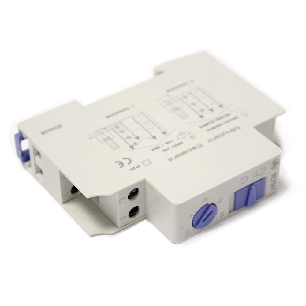 BeMatik - Temporizador electronico para Carril DIN 35mm: Amazon.es: Electrónica